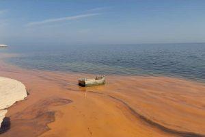 Apparition d'un phénomène d'eaux colorées au niveau de la zone des cabanons (Nouadhibou)