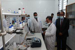 Visite du Ministre de la Pêche et de l'Economie Maritime à l'IMROP